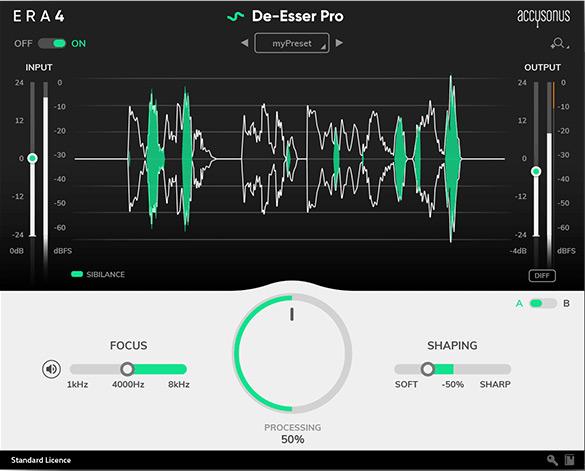 وی اس تی پلاگین دی اسر De-Esser Pro